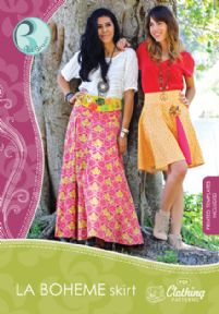 La Boheme Skirt sewing pattern + CD Pat Bravo